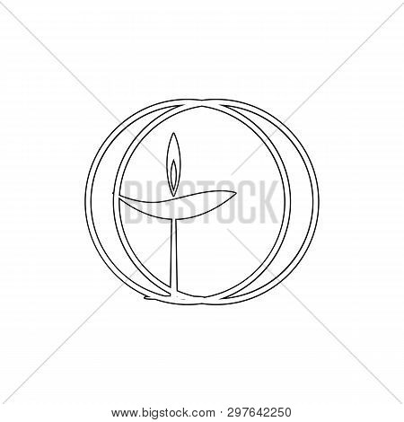 Religion Symbol, Unitarian, Universalism Outline Icon. Element Of Religion Symbol Illustration. Sign