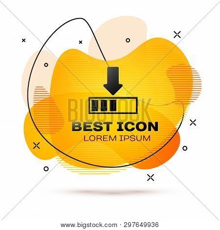 Black Loading Icon Isolated On White Background. Download In Progress. Progress Bar Icon. Fluid Colo
