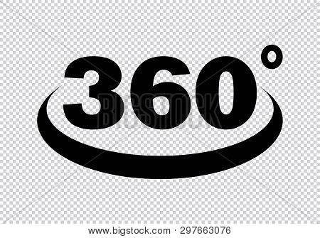 360 Degrees Icon. 360 Degrees Icon In Transparent Background Drawing By Illustration