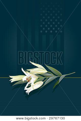 Floral tribute - patriotic