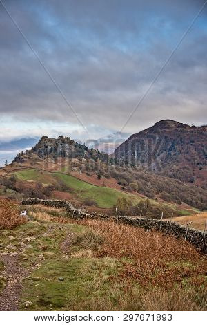 Castle Crag And Raven Crag Are Located In The North Western Fells Of The English Lake District Natio