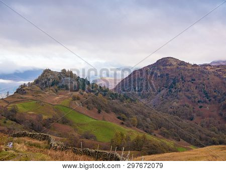Raven Crag And Castle Crag Are Two Fells Or Hills Located In The North Western Fells Of The English