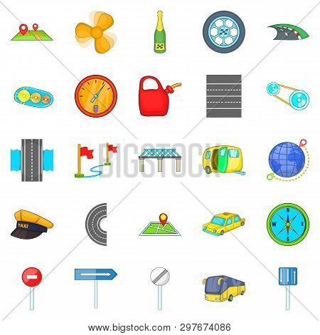 Autobahn Icons Set. Isometric Set Of 25 Autobahn Icons For Web Isolated On White Background
