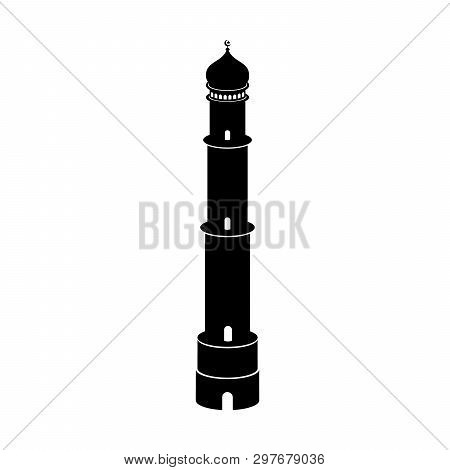 Mosque Tower Icon Isolated On White Background, Mosque Tower Icon Vector Image, Tower Icon Vector, M