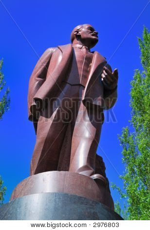 Lenin Monument In Kiev