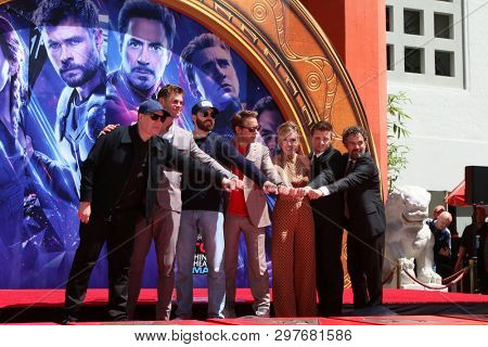 LOS ANGELES - APR 23:  Avengers Cast Members at the Avengers Handprint Ceremony at the TCL Chinese Theater on April 23, 2019 in Los Angeles, CA