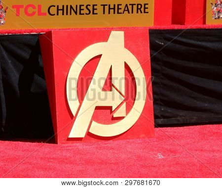LOS ANGELES - APR 23:  Avengers Handprint Atmosphere at the Avengers Cast Members Handprint Ceremony at the TCL Chinese Theater on April 23, 2019 in Los Angeles, CA