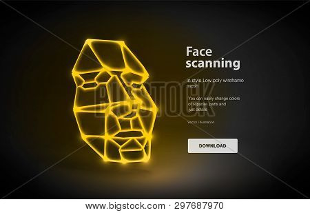 Face Low Poly Art Vector & Photo (Free Trial) | Bigstock