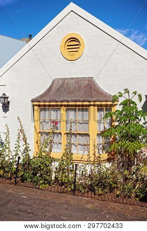Bay Window Frontage Of A Typical Cottage Recreated From 19th Century Australia