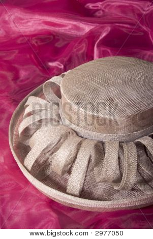Beige Ladies Formal Dress Hat