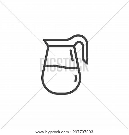 Coffee Jug Line Icon. Linear Style Sign For Mobile Concept And Web Design. Coffee Pot, Carafe Outlin