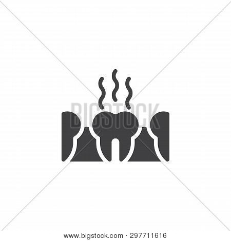 Bad Teeth Vector Icon. Stinky Tooth Filled Flat Sign For Mobile Concept And Web Design. Unhealthy Te