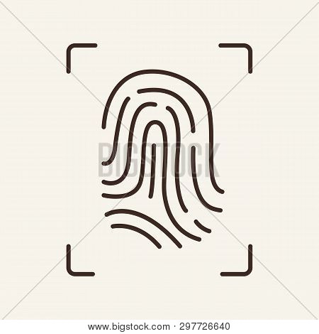 Fingerprint Line Icon. Evidence, Detection, Identity. Justice Concept. Vector Illustration Can Be Us