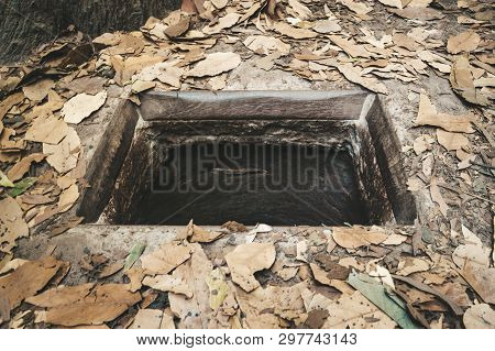 Cu Chi Tunnels History In Vietnam. Cu Chi Tunnel Built By Vietnamese Guerilla Forces During Vietnam