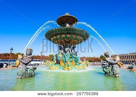Place De La Concorde Of Concorde Square Is One Of The Major Public Squares In Paris, France