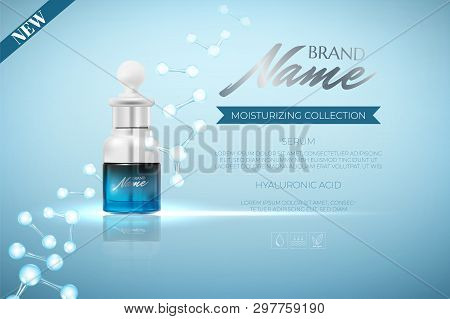 Design Advertising Poster For Cosmetic Product For Catalog, Magazine.design Of Cosmetic Package. Moi