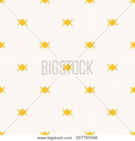 Candy Pattern. Simple Minimalist Vector Seamless Texture With Small Candies. Abstract Yellow And Whi