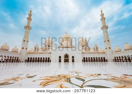 Sheikh Zayed Grand Mosque Is The Largest Mosque Of Uae, Located In Abu Dhabi The Capital City Of The