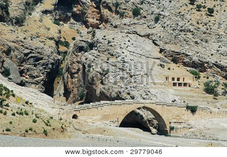 The Cendere roman bridge from Nemrut, Turkey