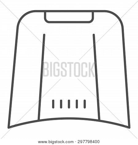 Car Hood Thin Line Icon. Automobile Bonnet Vector Illustration Isolated On White. Car Part Outline S