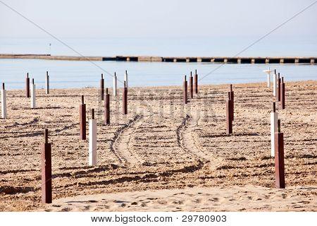 Beach Before The Summer Season