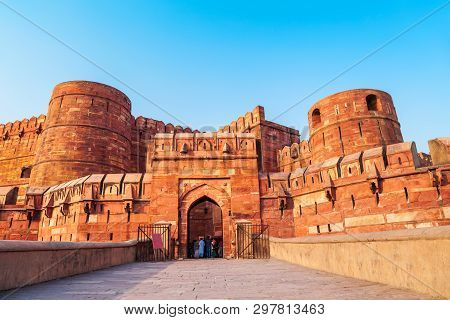 Agra Fort Is A Historical Fort In Agra City, Uttar Pradesh State Of India