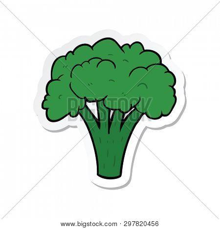 sticker of a cartoon brocoli