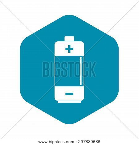 Alkaline Battery Icon. Simple Illustration Of Alkaline Battery Vector Icon For Web