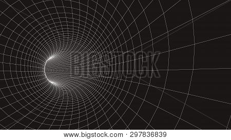 3D Tunnel Grid.wireframe 3D Surface Tunnel.grid Texture.