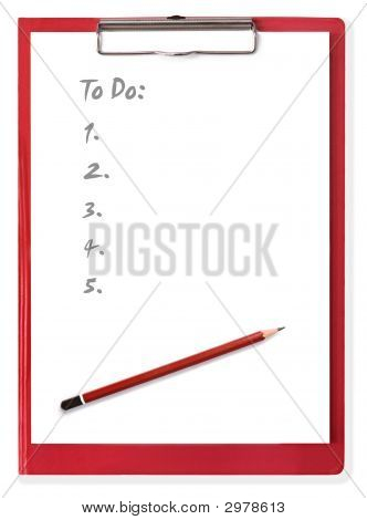 Clipboard With To Do List