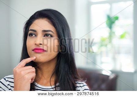 Young indian woman face close-up