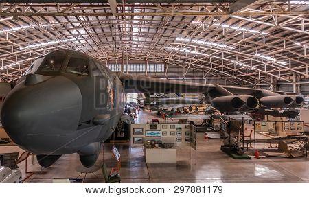 Darwin Australia - February 22, 2019: Australian Aviation Heritage Centre. Cockpit And Left Wing Of
