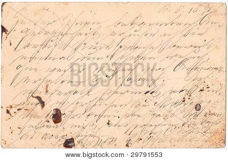 Fragment Of An Old Handwritten Letter, Written In Germany In 1895