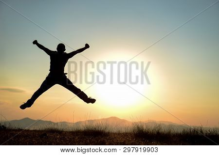 Happy Lifestyle And Exuberant Life, Crazy Man And Happy