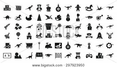 Toys Icon Set. Simple Set Of Toys Icons For Web Design Isolated On White Background