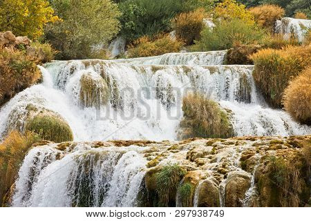 Krka, Sibenik, Croatia, Europe - Experiencing The Strenght Of Water At The Cataract Of Krka