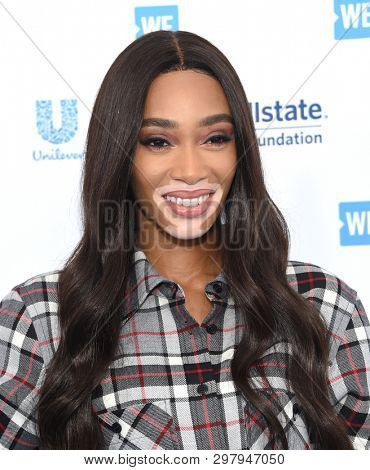 LOS ANGELES - APR 25:  Winnie Harlow arrives for WE Day California 2019 on April 25, 2019 in Inglewood, CA
