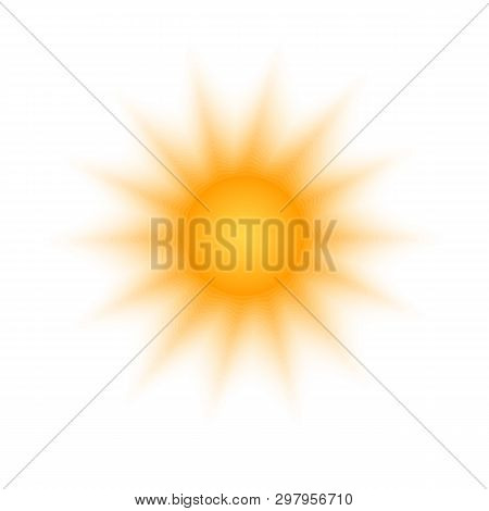 Solar Radial Pattern Orange Abstract Banner Sun Shape Design Element With Transparent Round Rays In