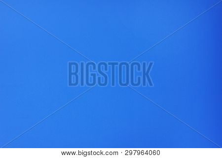 Blue Sky Background And Empty Template Of Light Sky Pattern With No Clouds. Bright Colorful Blue Ton