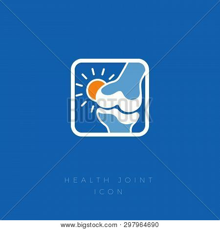Cured Joint. No Pain. Restoration Of Cartilage. Treatment Of The Joint And Bones. Joint With A Warm