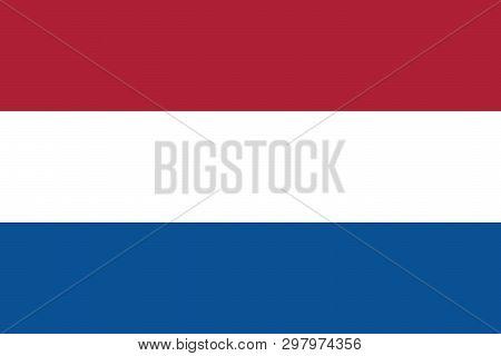 Holland Flag Vector Eps10.  Original And Simple Nederlands, Netherlands Or Holland Flag Isolated Vec