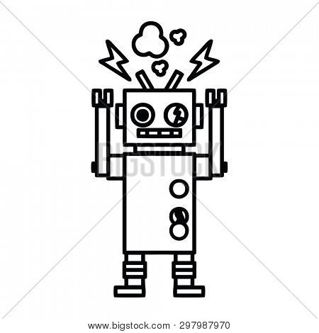 malfunctioning robot icon symbol