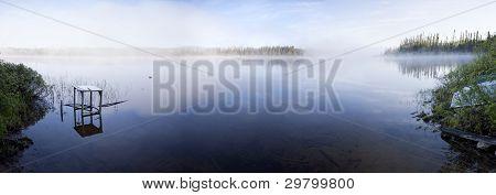 Foggy Lake Panorama