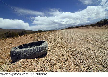 Unpaved Road Or Dirt Road