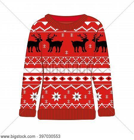Christmas Ugly Party Seasonal Sweater Vector Illustration