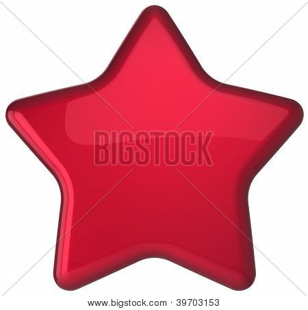 Red star shape award decoration blank