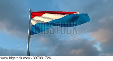 3d Rendering Of The National Flag Of The Netherlands