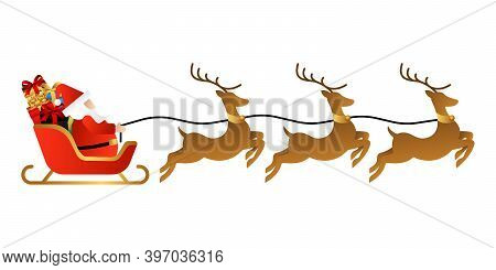 Santa Claus. Santa Claus Vector. Santa Claus Background. Santa Claus icon Vector. Santa Claus design. Santa Claus illustrations. Christmas Santa Claus Vector. Santa Claus Vector illustration. Isolated Santa Claus on a sleigh vector illustration