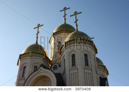 Temple Of All Sacred With The Gilt Domes And Crosses