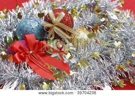 ribbon and fancy balls